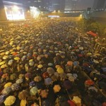 Hong Kong officials resume work as protests thin