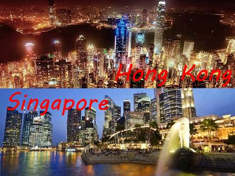 Singapore and Hong Kong are well-known international financial hubs worldwide.