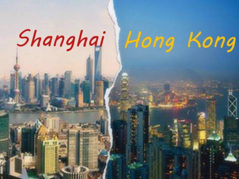 The rivalry between the cities: Hong Kong and Shanghai