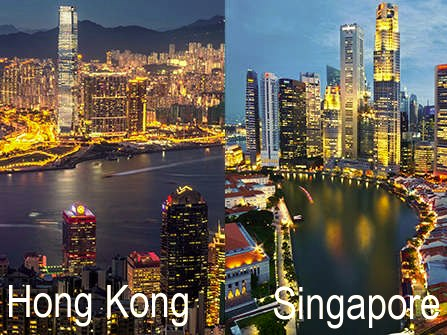 Hong Kong and Singapore, the Asia's financial-hub twins face slowing economy growth.