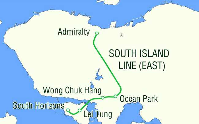 MTR South Island Line links Admiralty andSouth Horizons, Admiralty Station isan interchange station of existing Island Line and the future Shatin to Central Link.